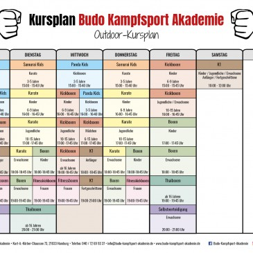 Neuer Outdoor Trainingsplan ab 22.06.2020