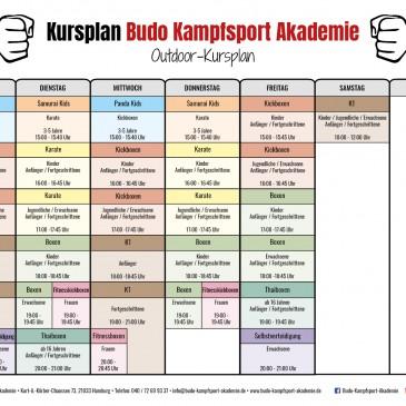 Neuer Outdoor Trainingsplan ab 02.06.2020