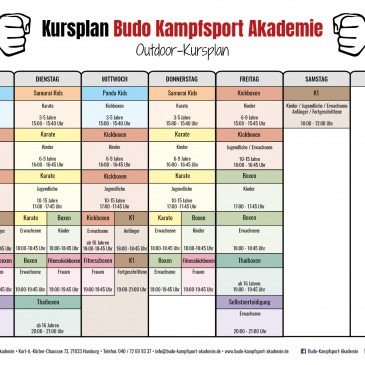 Neuer Outdoor Trainingsplan ab 08.06.2020
