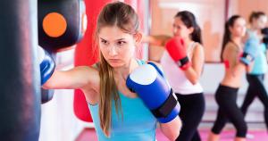 Fitness-Boxen für Frauen