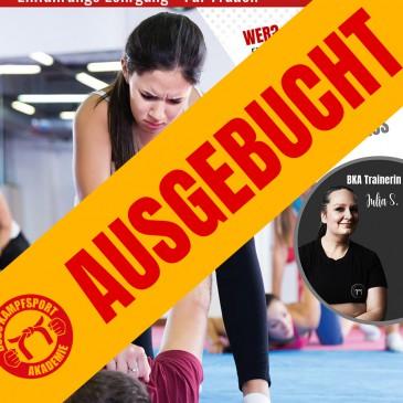 AUSGEBUCHT!!! Frauen Selbstverteidigung am 10.10.2020