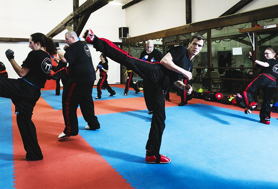 Sidekick Kickboxen